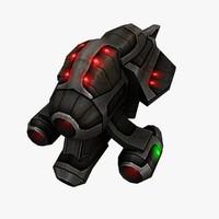 3d model sci fi alien ship