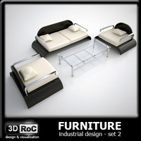 design furniture set sofa 3d model