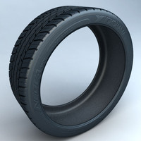 yokohama rubber tire 3d obj