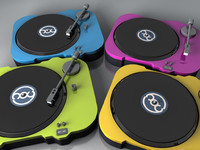 turntables record 3d model