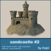 3d sandcastle sand castle model