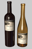bottles auto moto wine 3d model