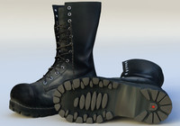 army boots shoes 3d model