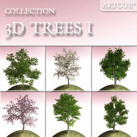 trees high-poly leaves 3d model