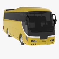 hino bus coach 3d model