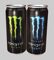 cans monster energy drink 3d model