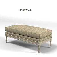 Pierre Collection PIED A TERRE classic bench ottoman pouf