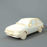 fiesta 1988 3d model