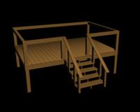 garden deck 3d model