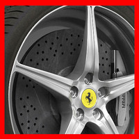 Ferrari 458 Wheel (Rim, Tyre and Brake Disc)