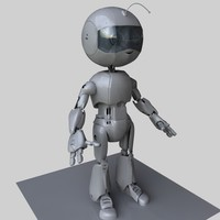 obj cute robot boy