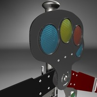 train station semaphore 3d model