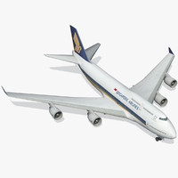boeing 747-400 modeled simulation 3d model