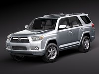 3d toyota 4runner 4 runner model