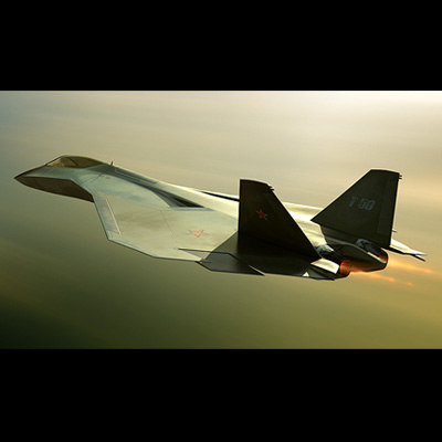 concept russian fighter 3d model - Russian stealth v2... by vitsly