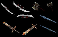 maya weapons assortment pack