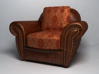 Classic style leather armchair
