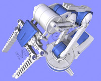 robotic arm 3d max