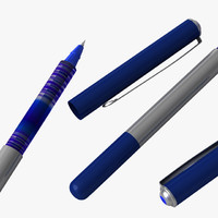waterproof ink pen 3d model