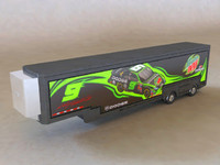3d model tractor hauler mountain dew