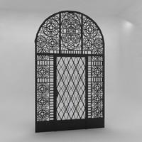3d iron door model