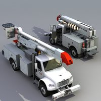 bucket truck work 3d model