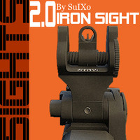 iron sights 3d model