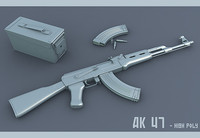 AK 47 High Poly