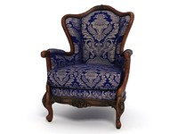 3d model of antique armchair