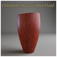 3d model cinnamon stick vase spice