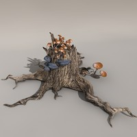 tree stool obj