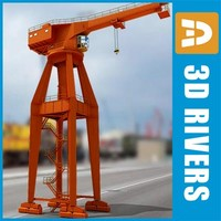 Hammerhead harbor crane by 3DRivers