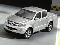 toyota hilux pickup 3d model
