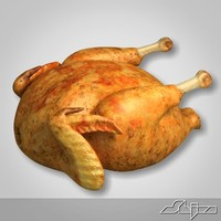 roasted chicken 3d model