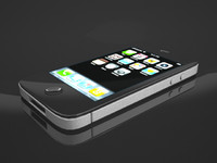 iphone phone 4 3d model