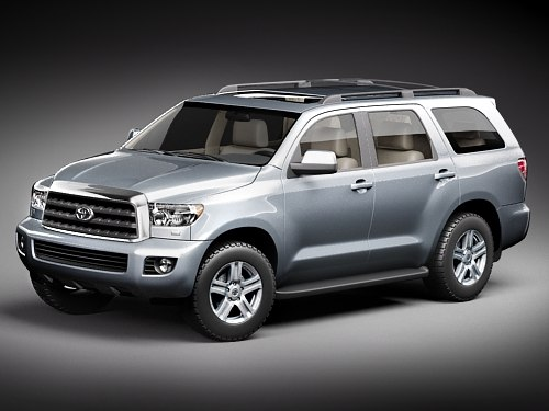 toyota sequoia suv 3d model. Black Bedroom Furniture Sets. Home Design Ideas