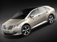 toyota venza 3d model