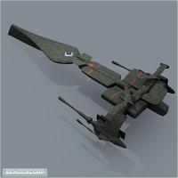 free warship 3d model