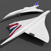 Concorde with 2 Textures