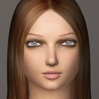 female realistic 3d max