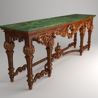 classical table 3d model