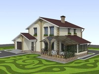 building bungalow 3d model