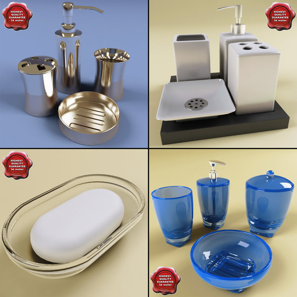 3d model bathroom accessories v1 for 3d bathroom accessories