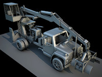 construction vehicle log lifter 3d model
