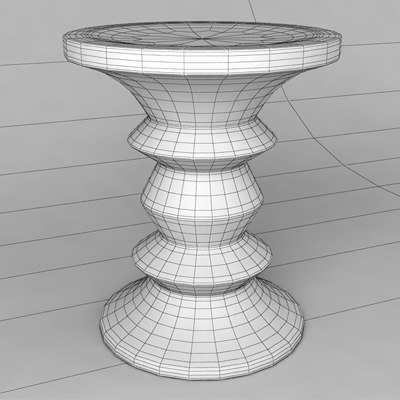 Walnut stool eames 3d model for Icon mobel eames