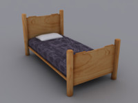 bed games ready 3d model