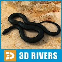 Black smooth python by 3DRivers