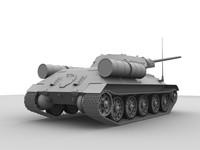 t34 tank 3d model