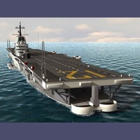 uss hornet aircraft carrier 3d model