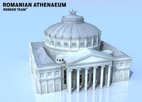 romanian athenaeum ateneul landmark 3d model